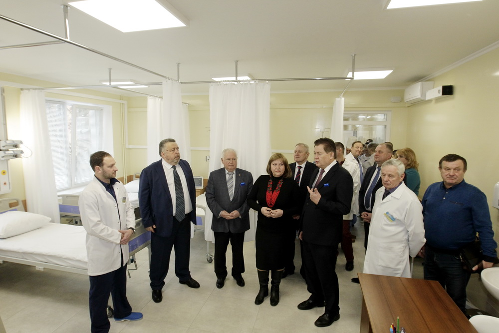 Відкриття відділення інтервенційної кардіології та реперфузійної терапії з рентгенохірургічним блоком та ліжками інтенсивної терапії